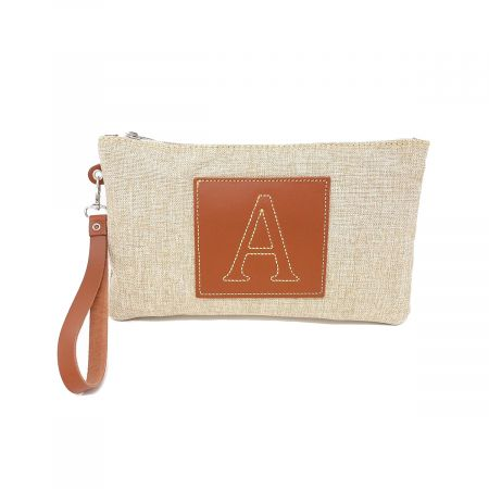 PA007 INITALS LEATHER CLUTCH