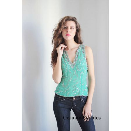 2681 TURQUOISE Evening Top