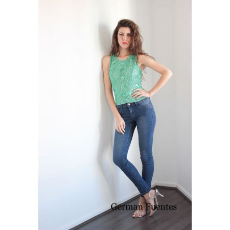 2714 TURQUOISE Evening Top