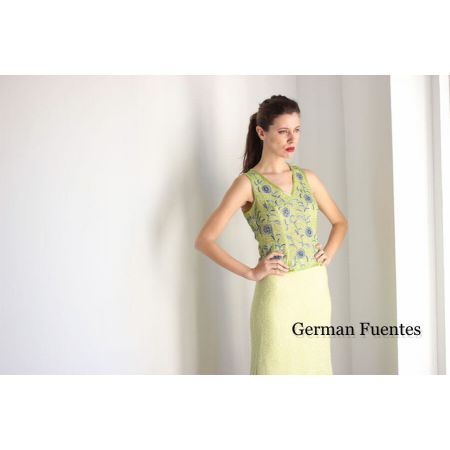 9022 LIME Evening Top