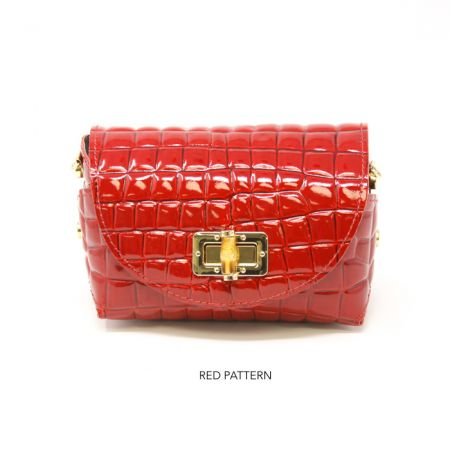 GF0877 PATTERN LEATHER BAG